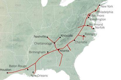 Cómo el oleoducto colonial se convirtió en una arteria vital para el combustible