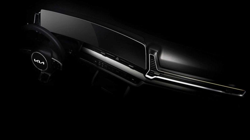 2023 Kia Sportage muestra una pantalla gigante de infoentretenimiento estilo Escalade
