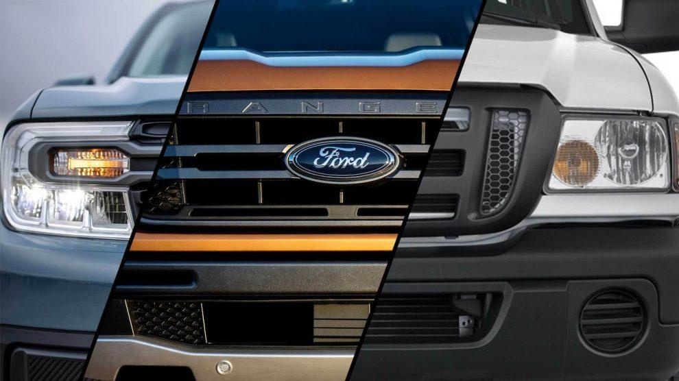 Ford Maverick 2022 vs.  Ford Ranger nuevo y viejo: ¡Verificación de especificaciones y tamaño!
