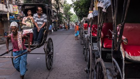 Retratos de extractores de rickshaw de Calcuta